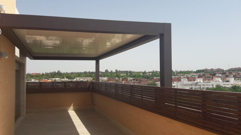 Pérgolas bioclimáticas de aluminio en Madrid